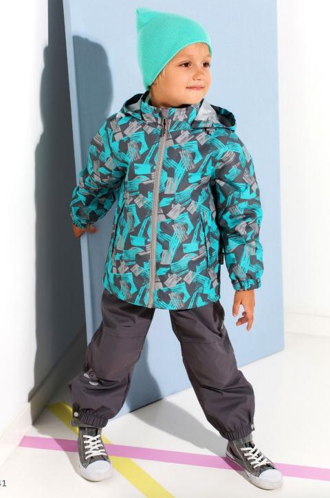 8e9802db43c4e Комплект демисезонный для мальчика 3в1 с флисовой кофтой Crockid (Крокид)  ВК 20040/н2 (ветровка, флисовая кофта, полукомбинезон)